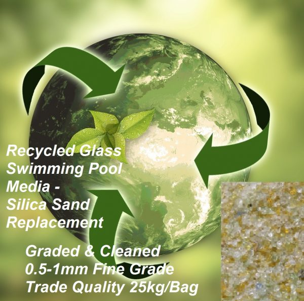Recycled glass filter media